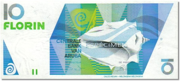 Billete de 10 florines arubeños