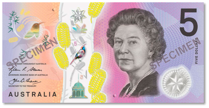 Billete de 5 dólares australianos
