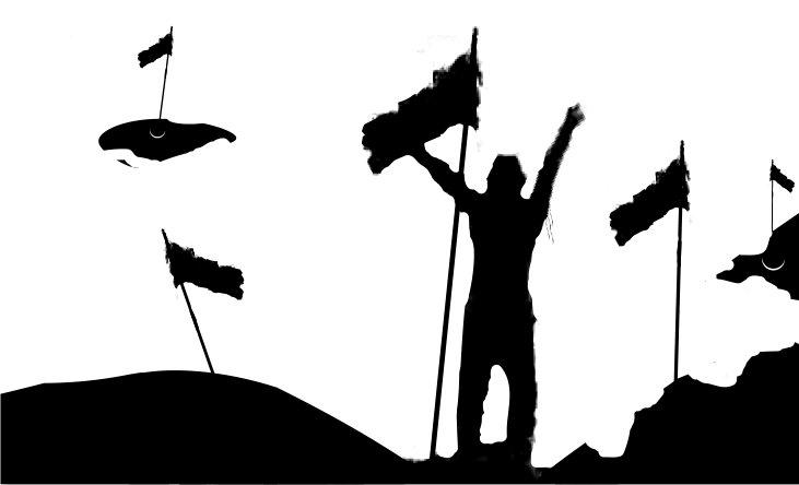 Las cinco banderas de W G Hill
