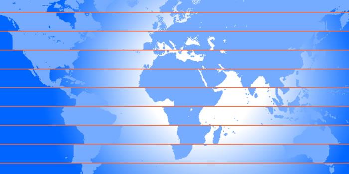 Mapa mundi de continentes dislocados